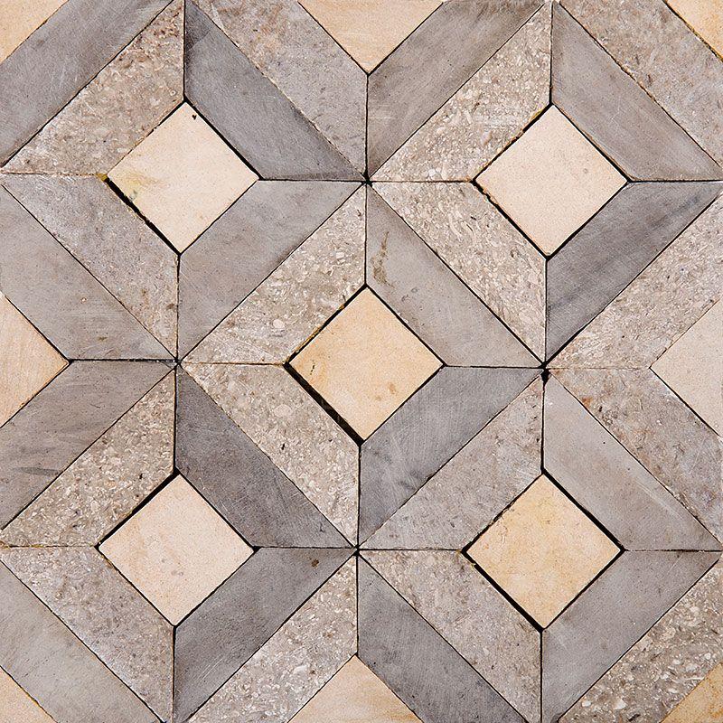 Mogano Honed Visconte Limestone Mosaics 8x8 Country Floors Of America Llc Flooring Limestone Mosaic