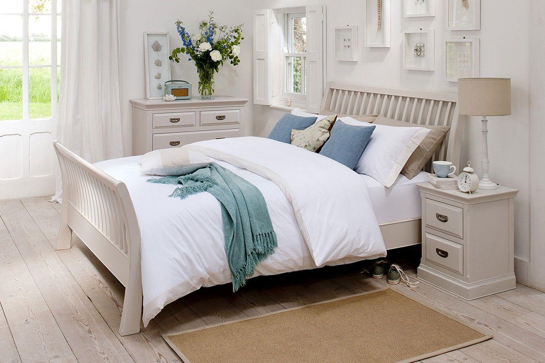 Bedroom Furniture Maine Range White panel beds, White