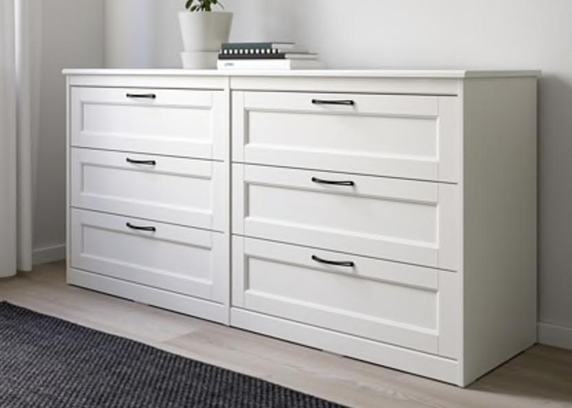 Ikea Songesand 6 Drawer Dresser White