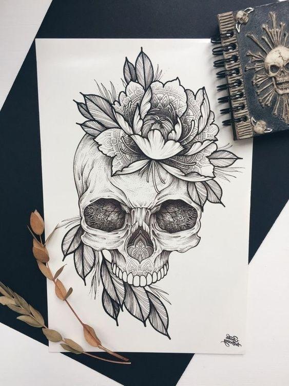 Desenhos De Caveiras Para Tatuagem Tatuagens Ideias Tattoo