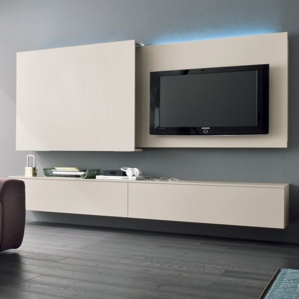 Die Moderne Wohnwand Im Wohnzimmer Exklusive Ideen Von Dall Agnese Wohnen Wohnzimmer Tv Versteckter Fernseher