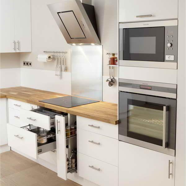 meuble cuisine blanc laque ikea