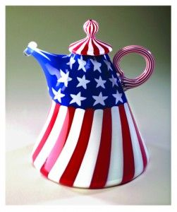 Stars and Stripes Tea Pot,,,,,VIVA  AMERICA  **+