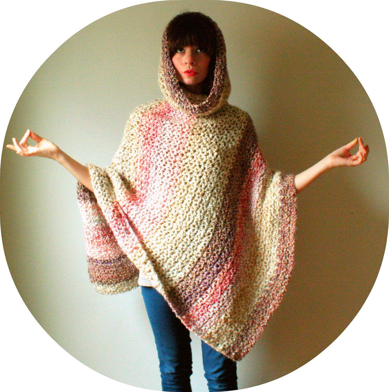 crochet hood poncho pattern adult free - Google Search ...
