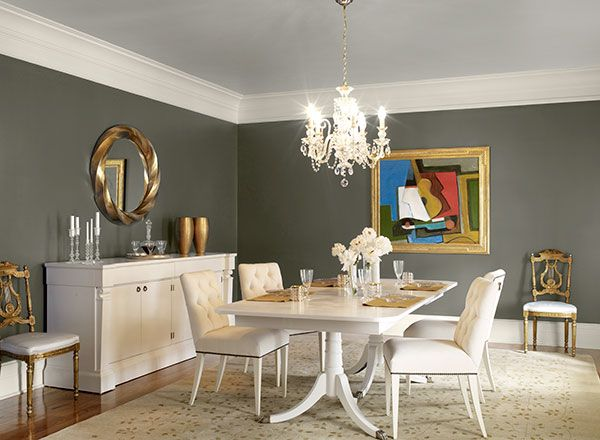 dramatic blue dining room   new york state of mind 805  walls   tumeric   ceiling   calm  trim. Pin by Jill Gavalis on MBR Paint Colors   Pinterest   Stonington