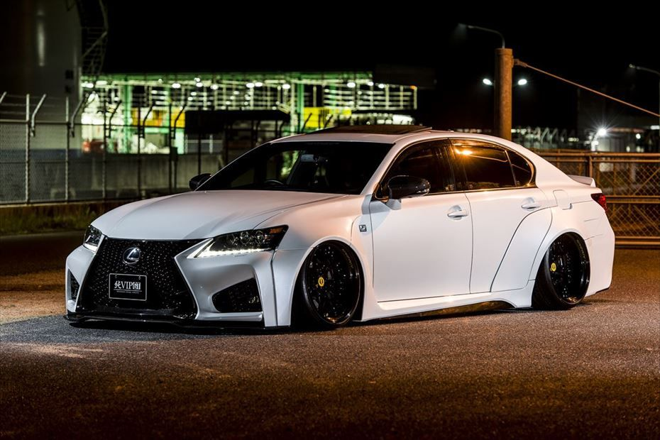 Aimgain Pure Vip Gt Aero Wide Body Kit With Trunk And Roof Spoilers Frp For Lexus Gs 4 Lexus Wide Body Kits Luxury Cars