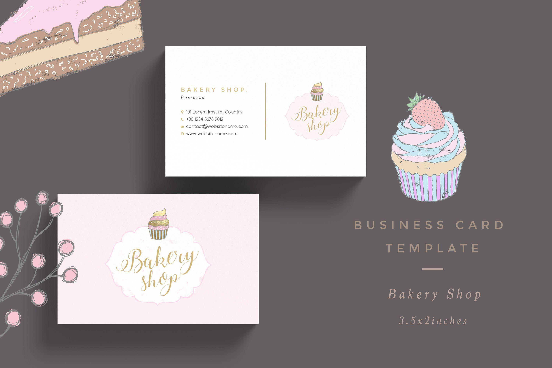 Bakery Shop Business Card Template Shablony Vizitok Vizitki