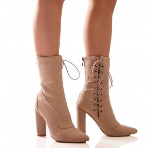 nude beige heels thighs and swiped