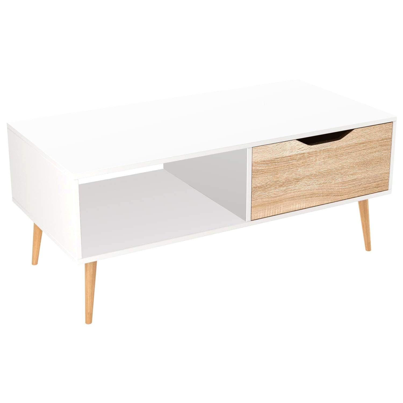 Table De Salon Moderne Blanche En Ovale Amazone En 2020 Table De Salon Table De Salon Moderne Table Basse Blanche