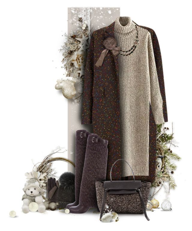 """Tweed Bag contest"" by giudittina ❤ liked on Polyvore featuring The 2nd Skin Co., Trilogy, Uniqlo, Chanel, CÉLINE, Winter, bag, tweed and holdontothatbag"