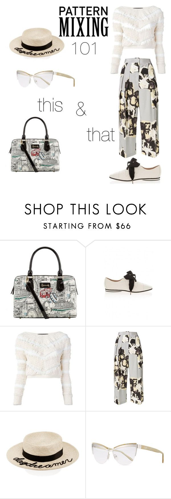 """""""Starving Artist"""" by melaniecobb ❤ liked on Polyvore featuring Harrods, Emporio Armani, Jay Ahr, By Malene Birger, Eugenia Kim, Prism and patternmixing"""
