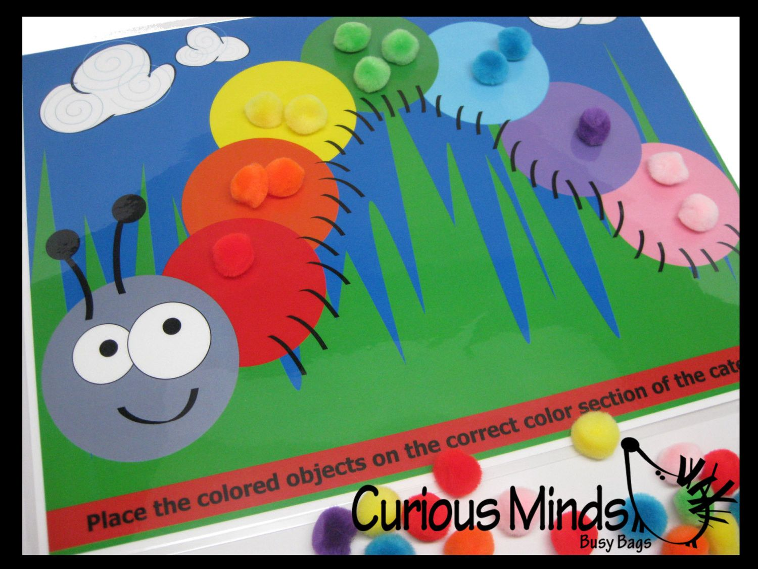 PDF DOWNLOAD - You Print- Color Sort Caterpillar Activity Page | Pdf ...