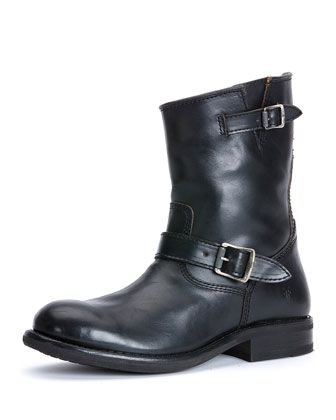 Sutton Leather Engineer Boot, Black  by Frye at Neiman Marcus.