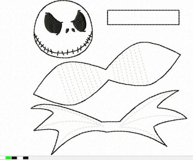 DIGITAL FILE Nightmare Skeleton Hero Inspired 3D Felt Bow