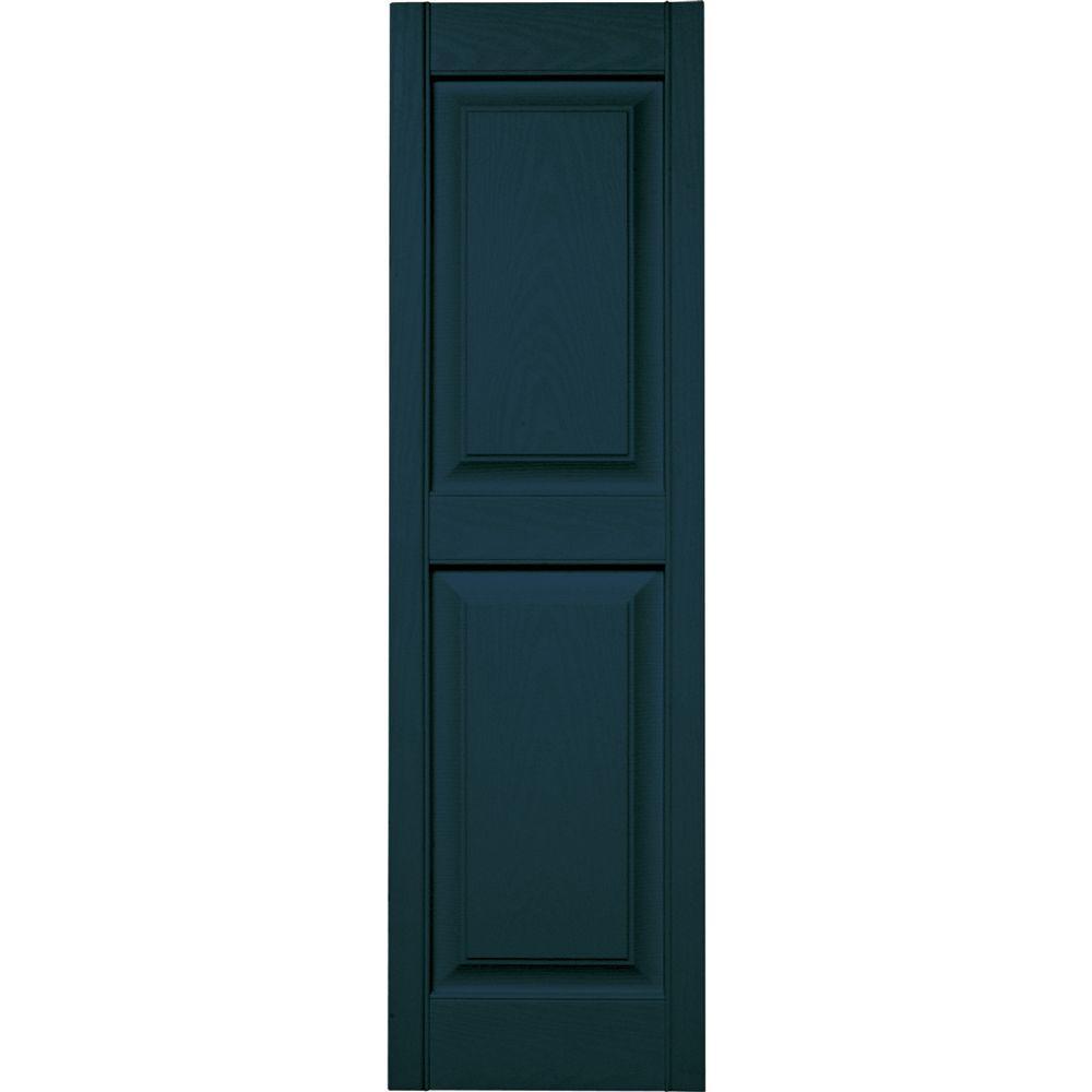 builders edge 15 in x 51 in raised panel vinyl exterior shutters