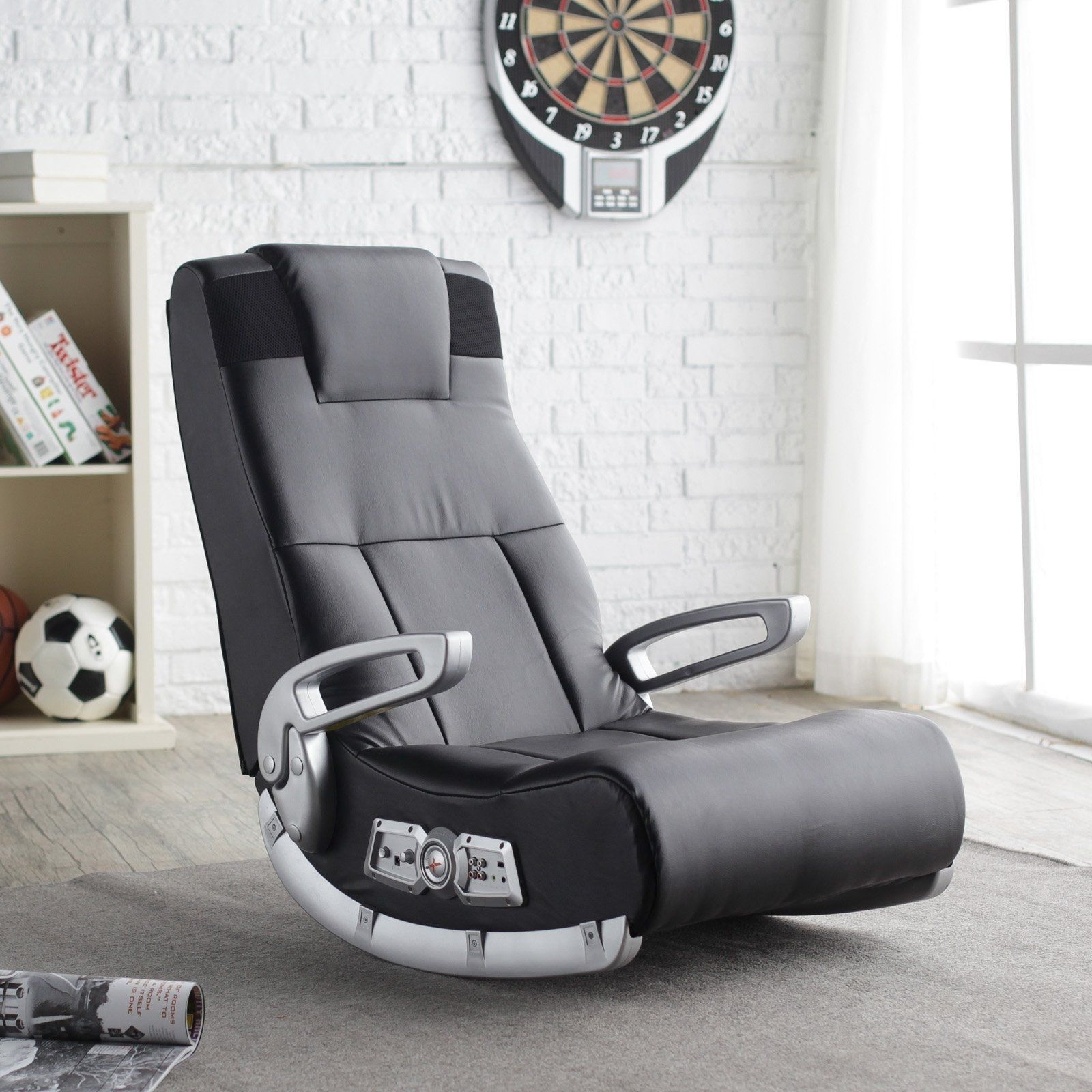 Video Game Chair X Rocker Speakers Wireless Gaming Seat
