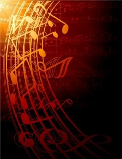 Free Vector Gorgeous Classical Music Background Red Black Dark