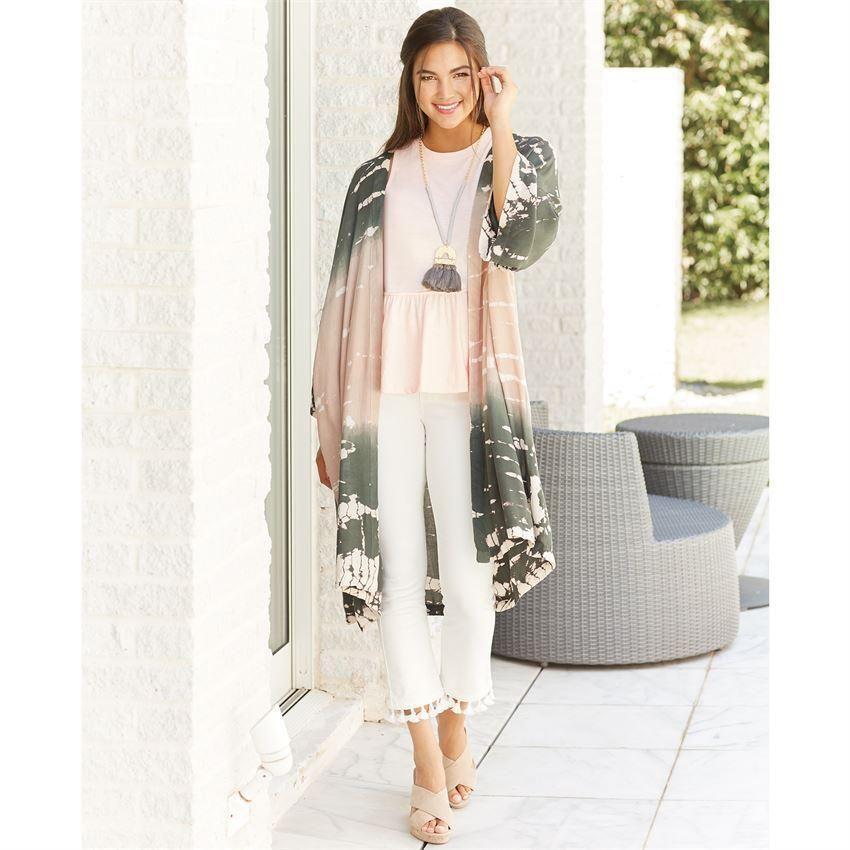 90afad8fb8 Mud Pie Johanna Tie Dye Kimono | Mud Pie | News | Tie Dye, Fashion ...