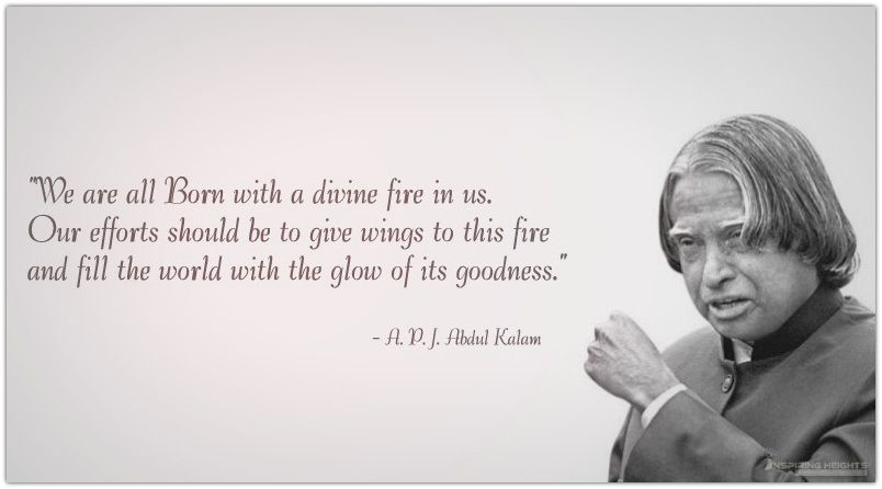 We are all Born with a divine fire in us..