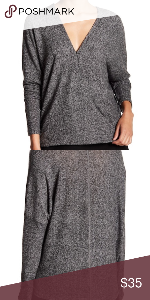 91c8a843bce Fifteen Twenty Gray Soft Wrap Front Top Sweater Fifteen Twenty brand, this  brand is sold