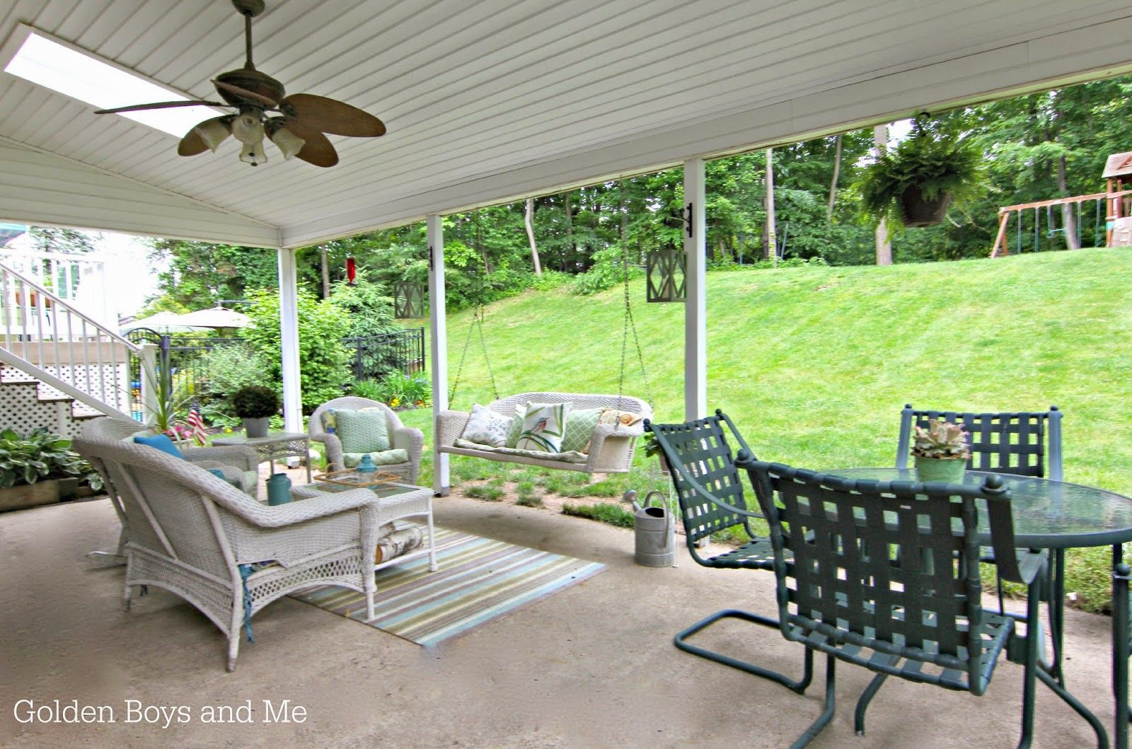 Covered Patio In 2019 Outdoors Wicker Porch