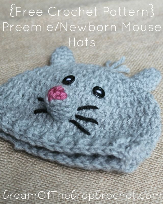 You Can Now Make Lots Of Mice Hats For The Nicu With This Preemie