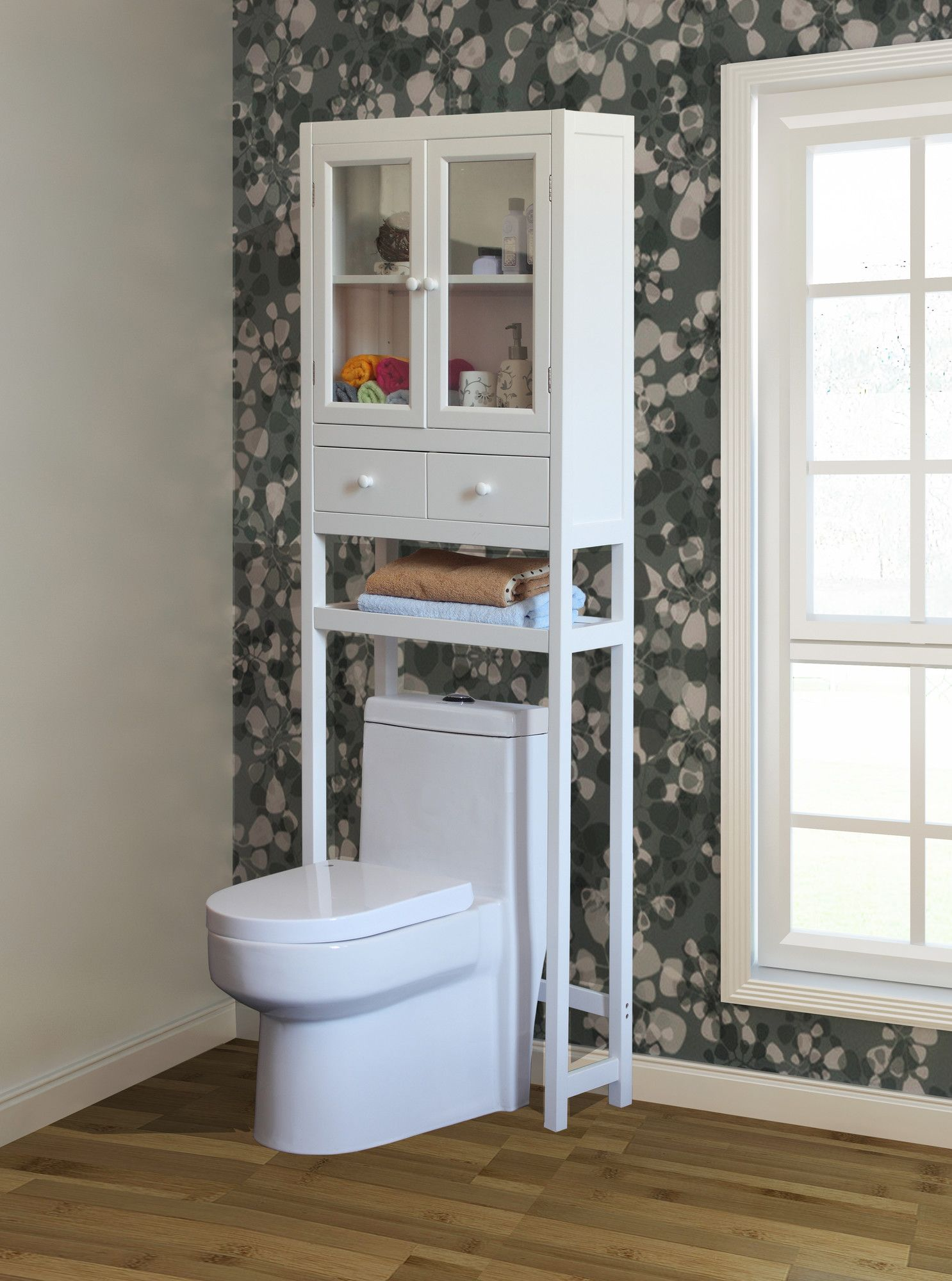 "23.6"" W x 70.8"" H Over the Toilet Storage Over toilet"