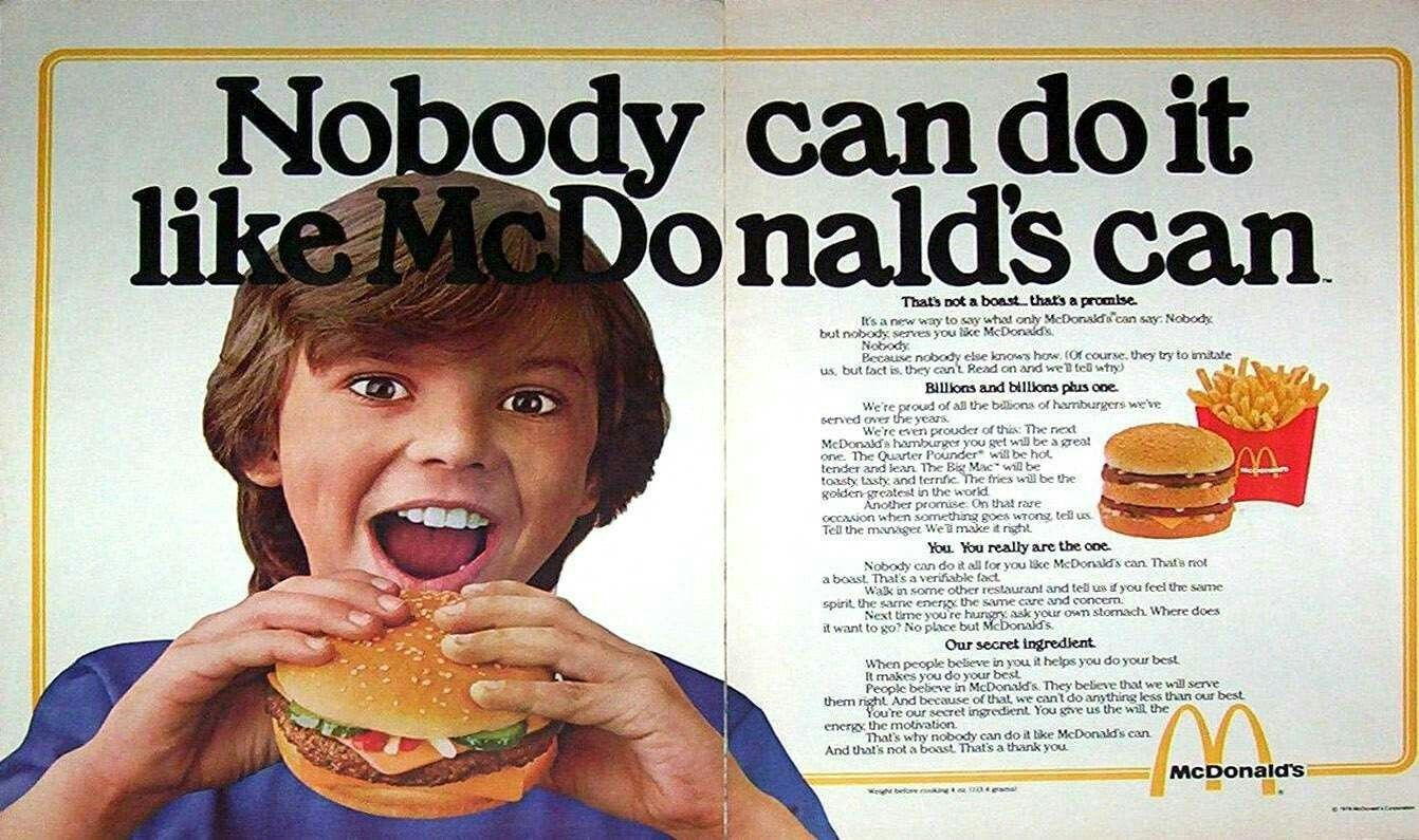 Pin by Markas Flood on Vintage Famous Fast Food ads