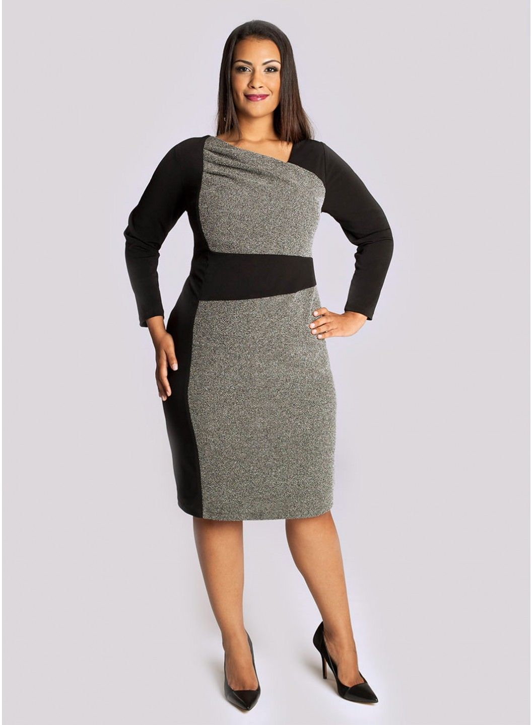 Plus size business wear | Plus size outfit ideas | Fashion, Dresses ...