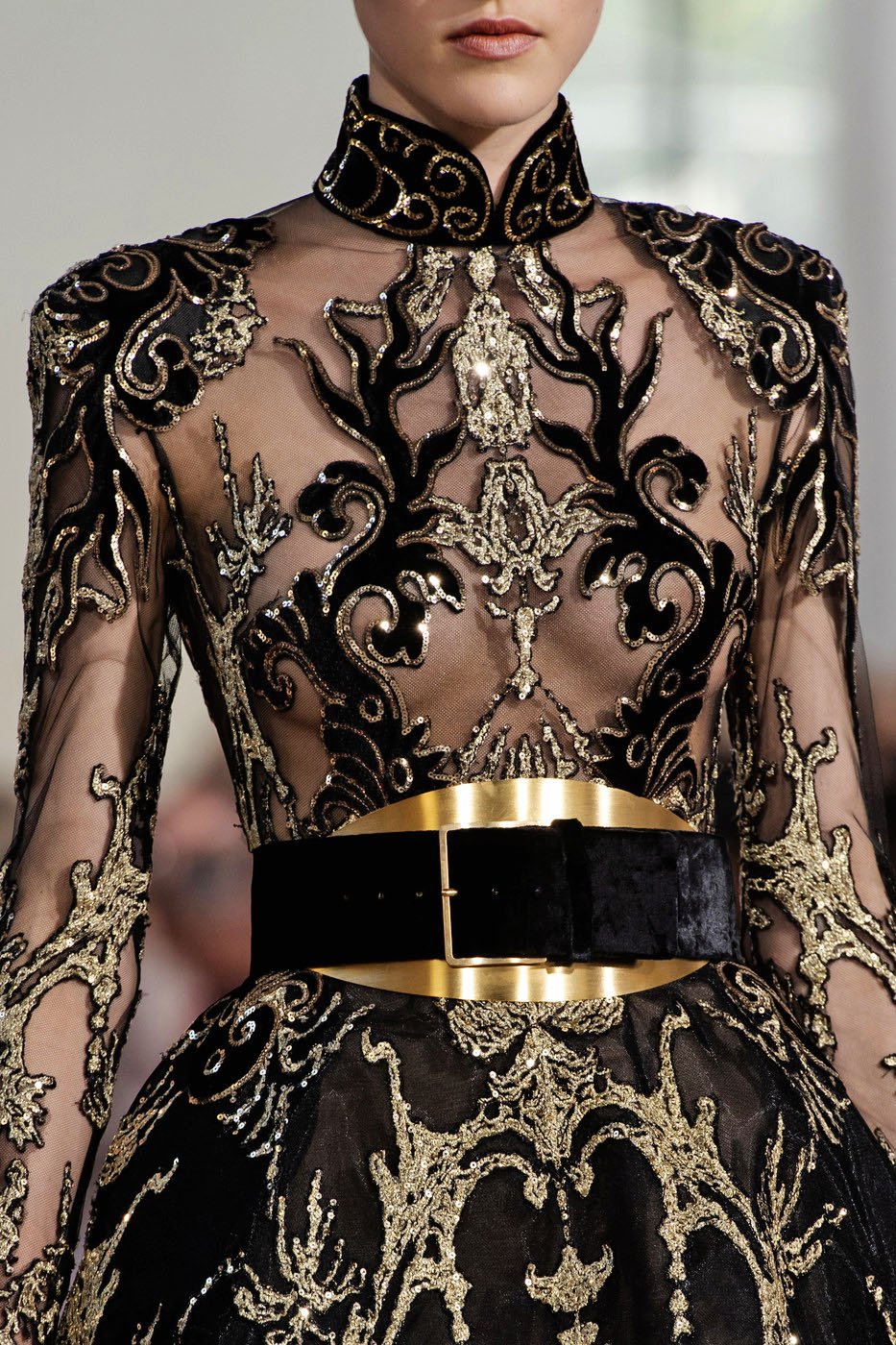 "In the collection notes, Elie Saab is quoted as saying, ""I was drawn to East Asias rich culture…"