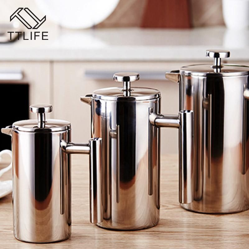 Tall Stainless Steel French Press Coffee Maker Stainless