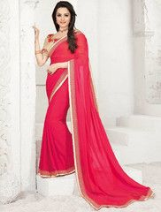 Pink Color Georgette Function & Occasion Sarees : Sajda Collection YF-28369