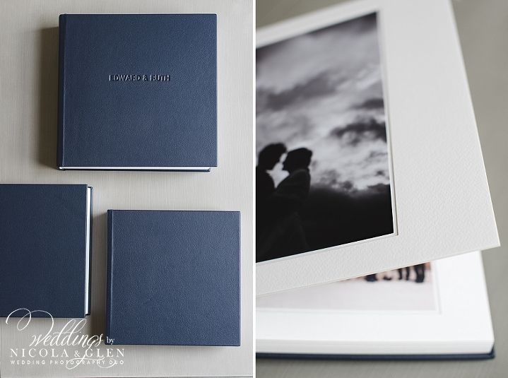 12 X 12 Inch Classic Navy Leather Queensberry Duo Album With 10 X 10