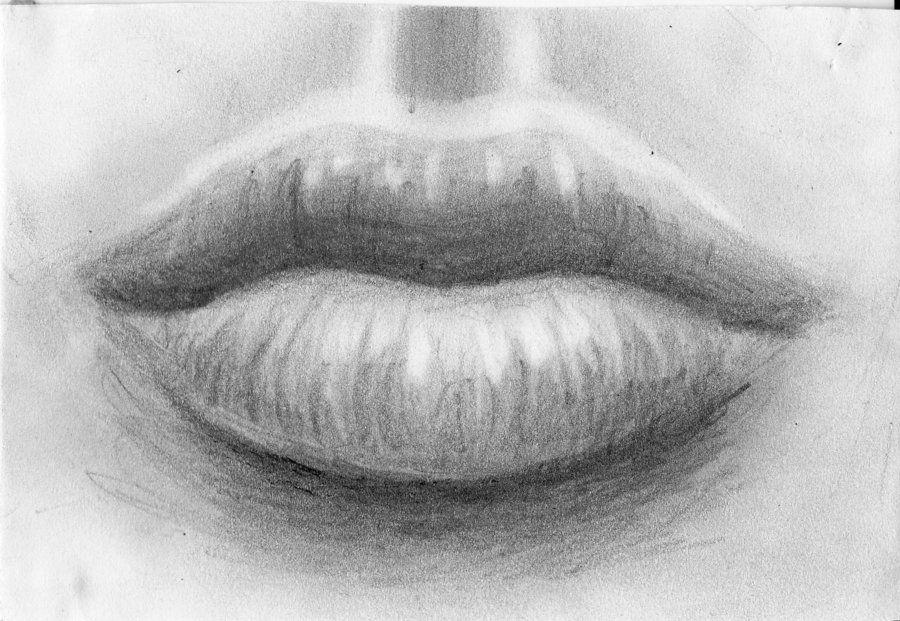 Contour Line Drawing Eye : Lips sketch by ~amazura on deviantart drawings