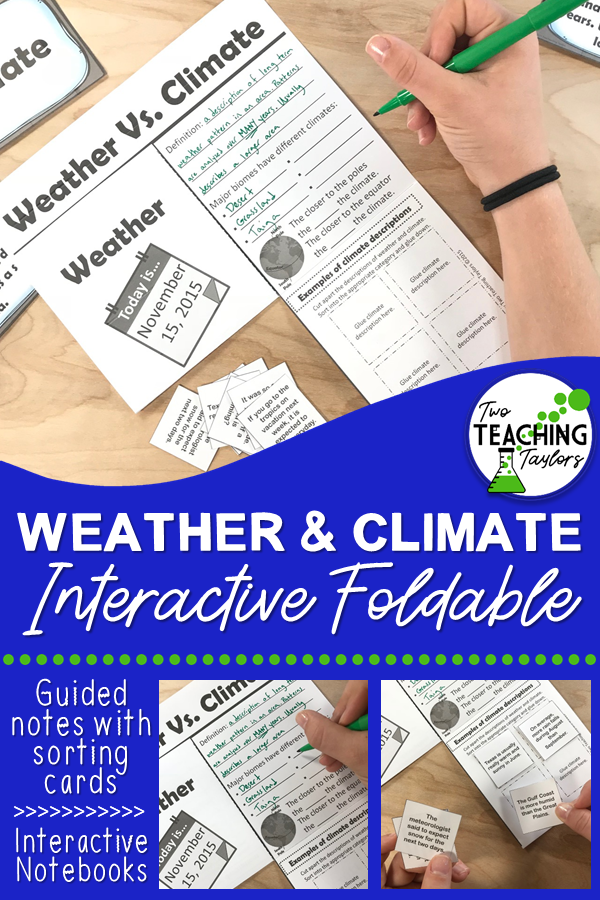 Weather And Climate Activities Interactive Foldable And Sorting