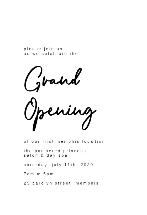 Calligraphy Names Grand Opening Invitation Template Free Greetings Island Grand Opening Invitations Shop Opening Invitation Card Grand Opening