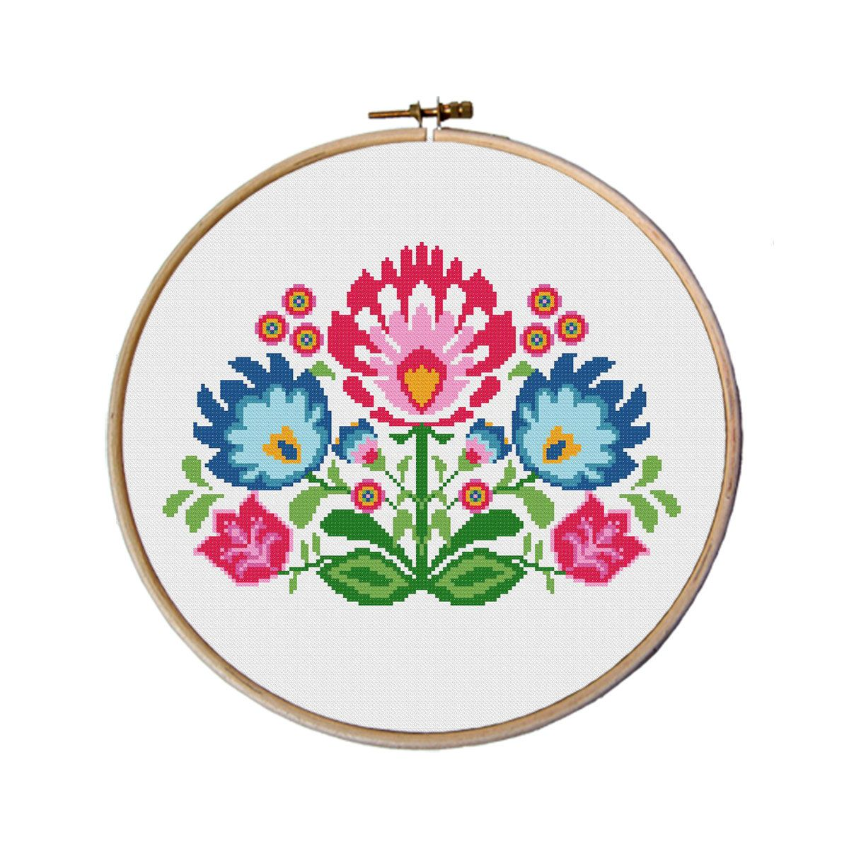 Flowers cross stitch pattern cross stitch by myfunnystitches