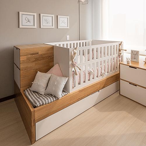 Cama cuna alondra roble cama madera natural corral en - Cama madera ikea ...