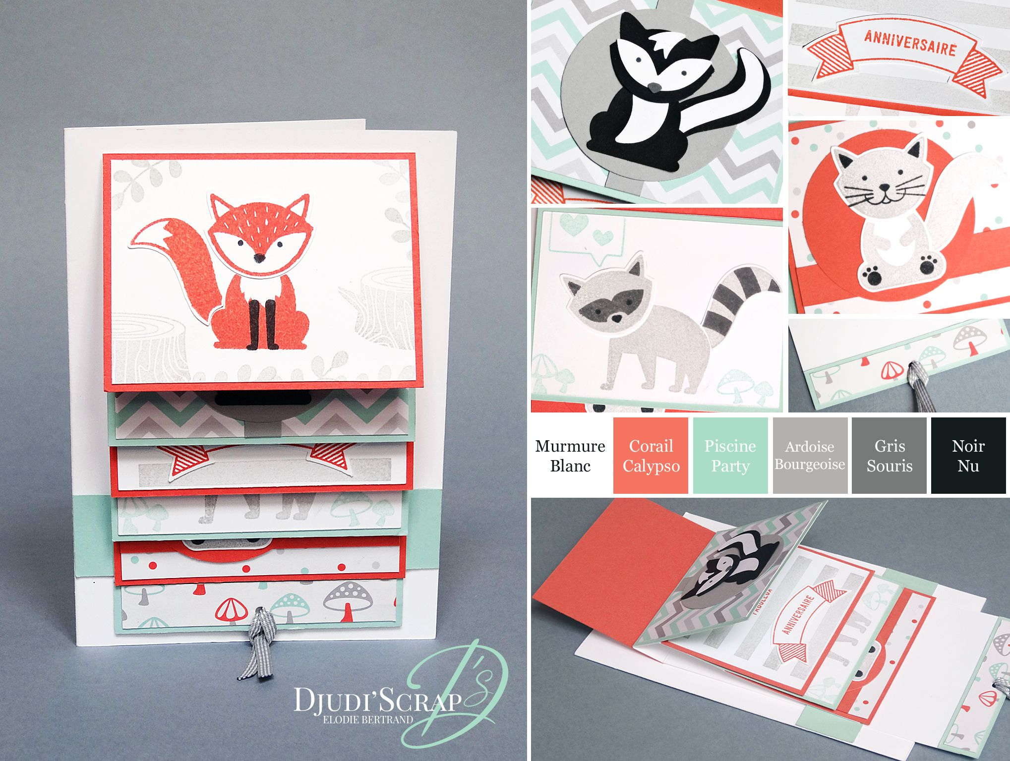 Tutoriel Carte Cascade Anniversaire Carte Tirette Set Foxy