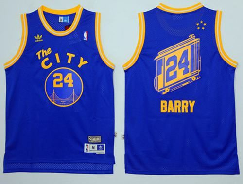 f5e097279 Google jerseys Warriors  24 Rick Barry Blue Throwback The City Stitched NBA  Jersey
