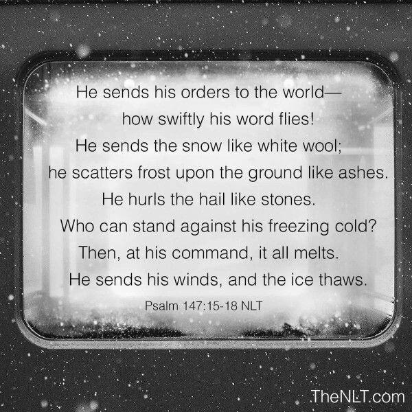 Many wonders of God. Psalm 147:15-18
