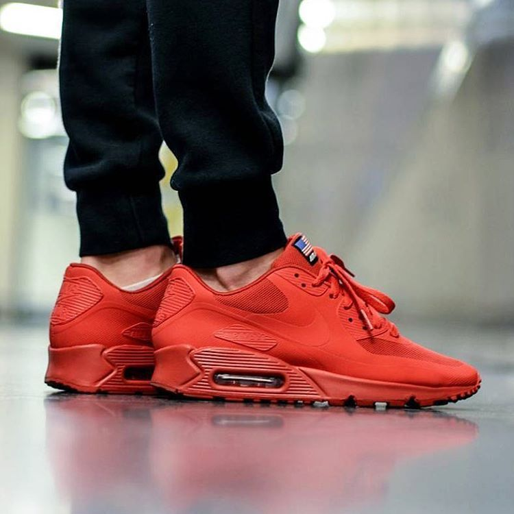 nike air max 90 hyperfuse independence day red for on feet photos for outfit lay down photos