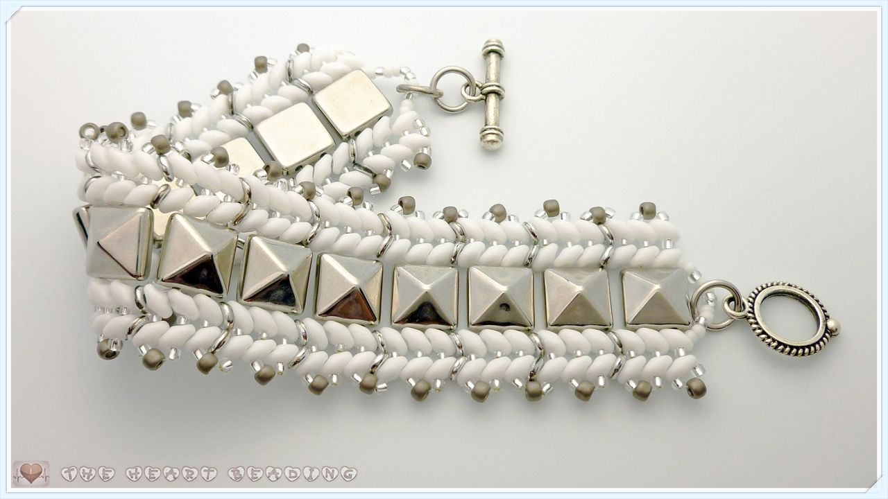 "One Artbeader, ""TheHeartBeading,"" thinks the TOHO 8/0 matte pewter beads are beautiful: ""I'm in love with this color. It worked beautifully with transparent silver lined beads and nickel components."" http://www.artbeads.com/tbrd8-566.html"