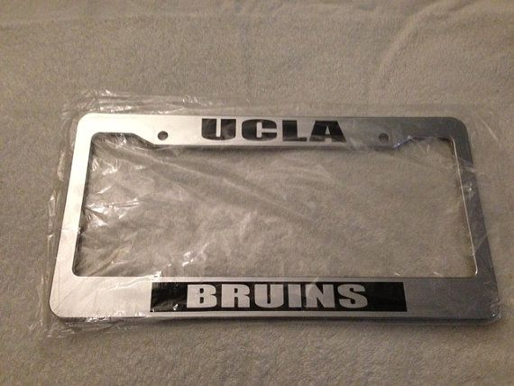 ucla bruins university alumni chrome license plate frame university elite college