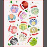 """lindos, navidad, búho, búhos, """"búho del navidad"""", """"búhos del navidad"""", Navidad, santa, gorra, invierno, rojo, pájaro, pájaros, estacionales, dibujo animado, festivo, """"Felices Navidad"""", """"feliz Navidad"""", kawaii, dulce, adorable, búhos, el """"navidad lindo"""", los días de fiesta, estaciones, saludos, acebo, bastón de caramelo, chucherías, christmassy, xmasy, los """"búhos lindos"""", los """"pájaros lindos"""", los """"pájaros del kawaii&qu..."""