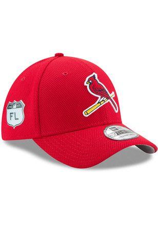 cdfd34e1e351c6 New Era St Louis Cardinals Mens Red 2017 Spring Training 39THIRTY Flex Hat