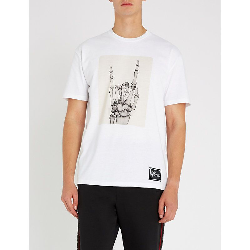 5ae483056 BALLY X SHOK-1 SKELETON-PRINT COTTON-JERSEY T-SHIRT. #bally #cloth ...