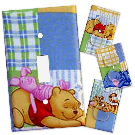 Winnie+the+Pooh+Light+Switch+Plate/Outlet+Covers+by+debbieshine,+$15.99