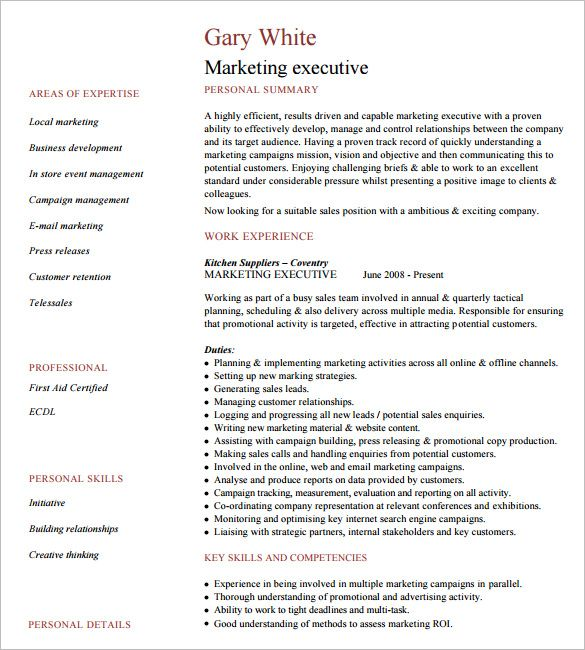 Executive Resume Formats. Click Here To Download This Regional