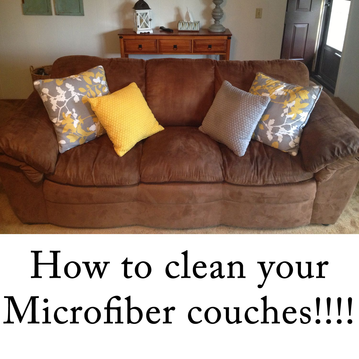 Sofa Set Cleaning: Microfiber Couch Cleaner---this Worked SOOOO Well. We Got